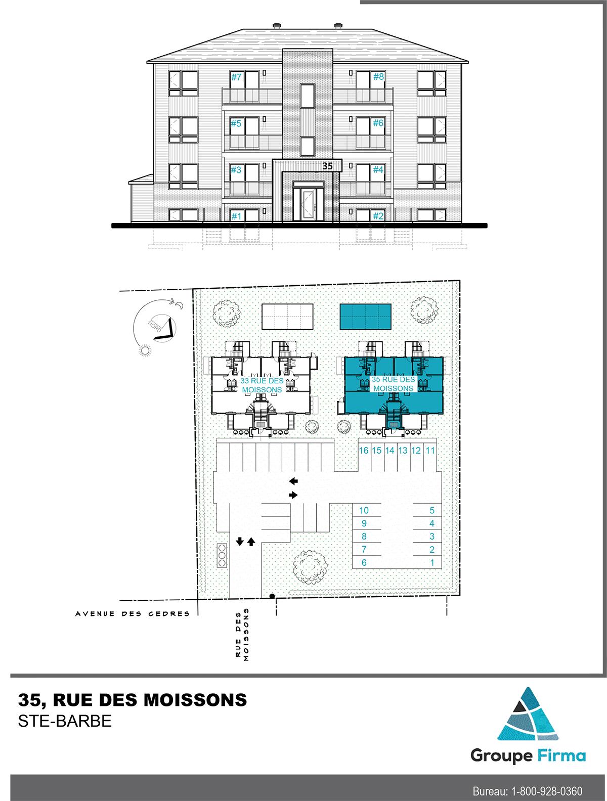 Appartements à louer - 33 et 35 rue Des Moissons à Ste-Barbe